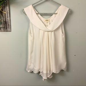 L'AGENCE 100% silk sleeveless Ivory/ cream top XS